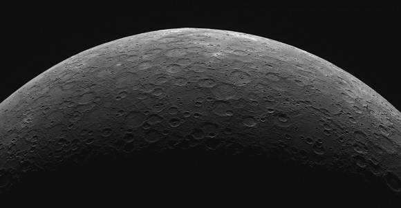 A limb mosaic of the planet Mercury as seen from MESSENGER's Wide Angle Camera & Dual Imaging System. (Credit: NASA/Johns Hopkins University/Applied Physics Laboratory/Carnegie Institution of Washington).