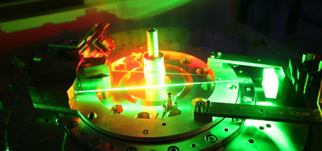 Lasers are used to align diagnostics and hardware prior to shooting on Z