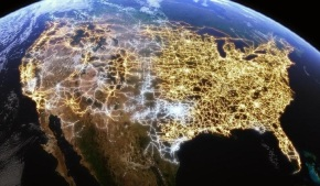 U.S. electricity network routes