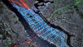 New York's public transportation paths