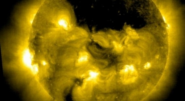 SOHO has discovered a giant hole in the Sun